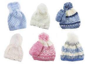 Newborn-Kids-Baby-Boy-Girl-POM-Cappello-Inverno-Caldo-all-039-uncinetto-Bobble-Beanie-Cap