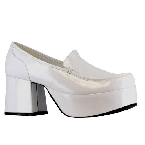 Mens White Daddio Pimp Shoes Halloween Footwear