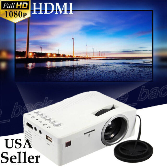 Full HD 1080P LED/LCD 3D 800 Lumens VGA HDMI TV Home Theater Projector Cinema