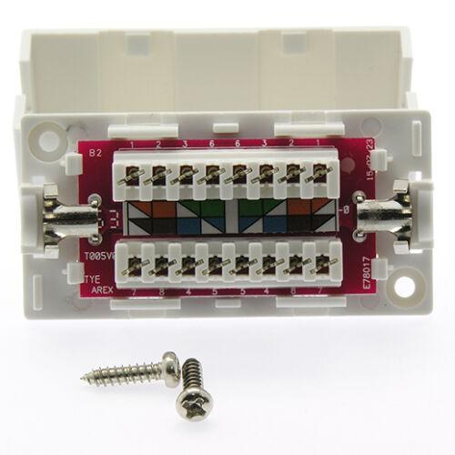 110 Punch Down Type Inline Network Ethernet Extender Lan 10x Cat6 Junction Box