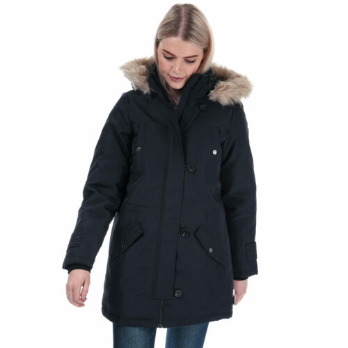 Womens Vero Moda Excrusion Expedition Parka Jacket In Navy Blue