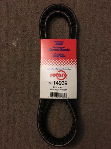 "Pump Drive Belt 50-3//4/"" x 1//2/"" Fits Hustler Raptor 603907 MADE IN USA"