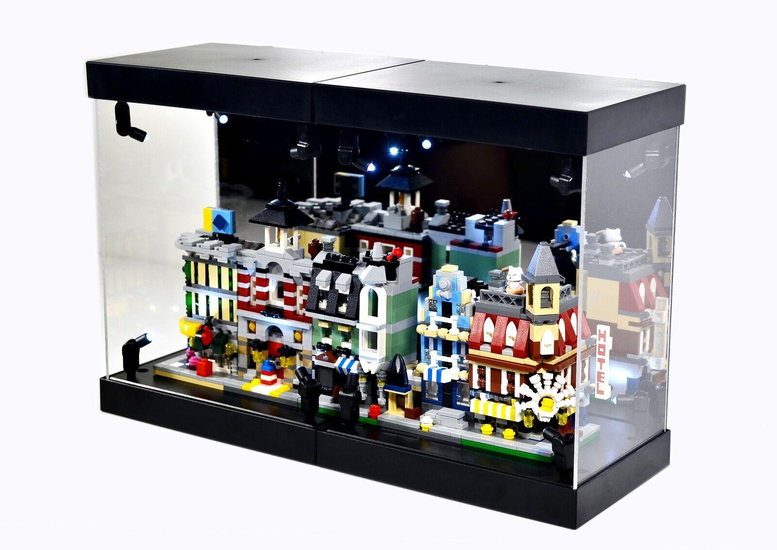 MB-2 MB Display Box Acrylic Case LED Light House for LEGO mini Modulars 10230