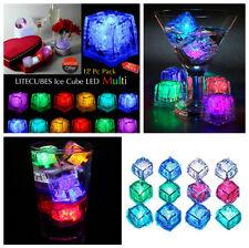 12x Water Submersible Flashing LED Ice Cubes Flashing Multi-Color Light Rocks