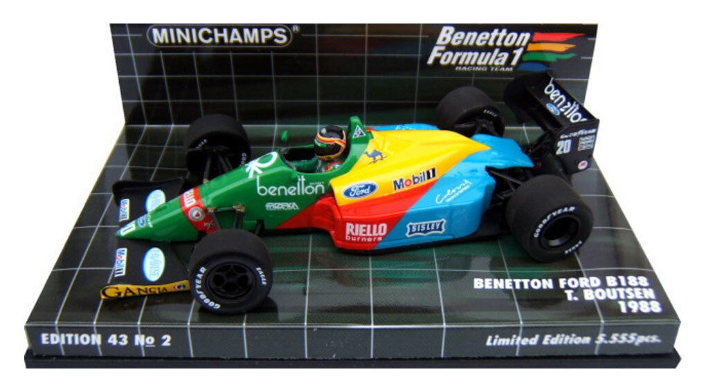 Minichamps Benetton Ford B188 1988 - Thierry Boutsen 1 43 Scale
