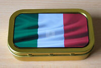 World Flags Italy 1 & 2oz Tobacco/Storage Tins