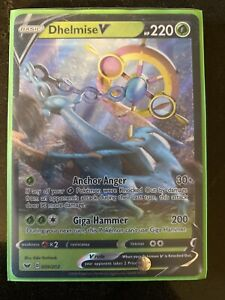 DHELMISE V Full Art Ultra Rare pokemon card Sword Shield Authentic Mint