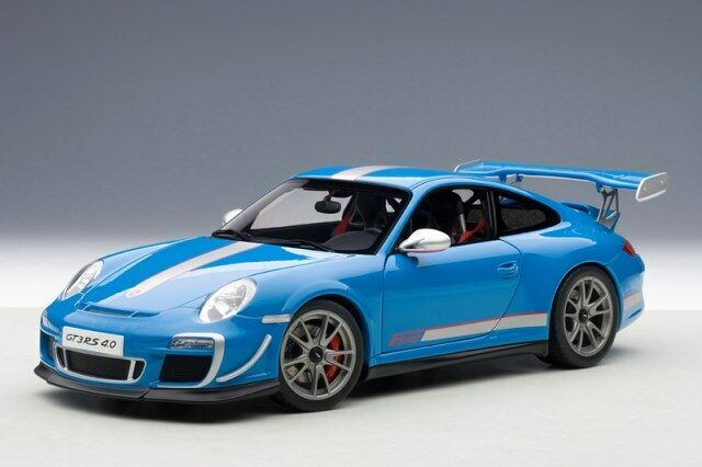 PORSCHE 911 (997) bilRERA GT3 RS 4.0 blå vit STRIPES 1 18 av bilkonst 7845