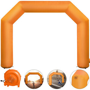 Orange-Inflatable-Arch-19-5FT-Outdoor-Advertising-4-Ropes-Magic-Tape-8-Sandbags