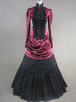 Vintage Gothic Red Lolita Victorian Aristocrat Long Dress Ball Gown S M L XXL XS