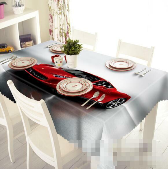 3D rouge car 888 Tablecloth Table Cover Cloth Birthday Party Event AJ WALLPAPER AU