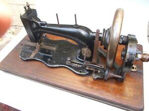 ANTIQUE-GERMAN-SEWING-MACHINE-JOSEPH-WERTHEIM-FRANKFURT-HAND-CRANK-C-1860-039-sRARE