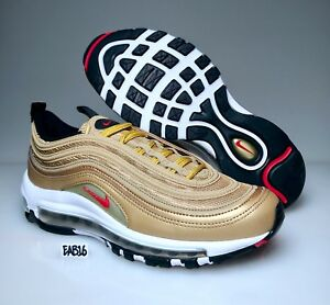 Nike Air Max 97 OG QS Metallic Gold Varsity Red 884421 700 Mens and ... 74068678a