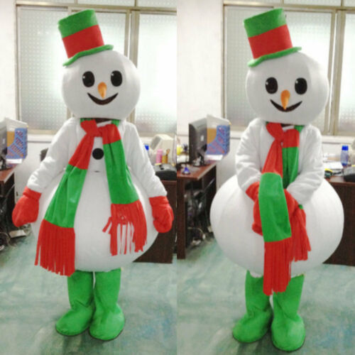 Halloween Mascot Costume Cosplay Party Game Fancy Snowman Dress Adults Size Hot