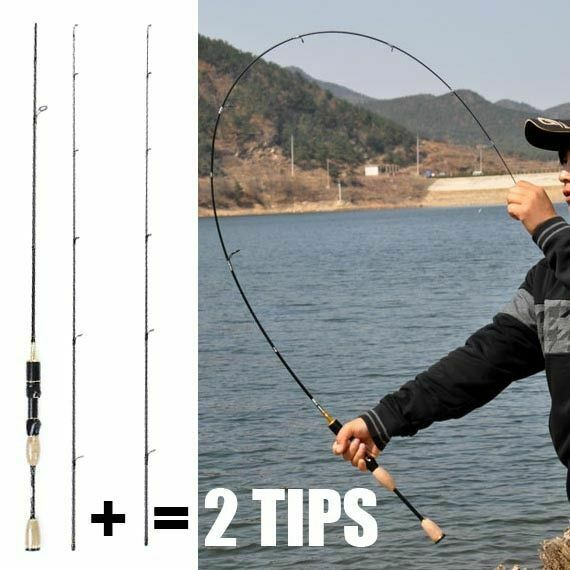 Fishing Spinning Carbon Fiber Rod 1.8 Pole Portable Ultra Light Rods Travel Lure