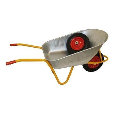 Citomerx® Schubkarren 200 kg 120 l Transport Karre Stahl verzinkt mit Ersatzrad