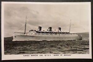 Tss Queen Of Bermuda Furness Line RPPC Ocean Liner Cruise Ship - Queen of bermuda cruise ship