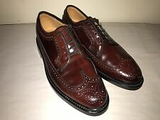 NEW FLORSHEIM IMPERIAL SHELL CORDOVAN BROGUE SIZE USA - 8 D MADE IN USA
