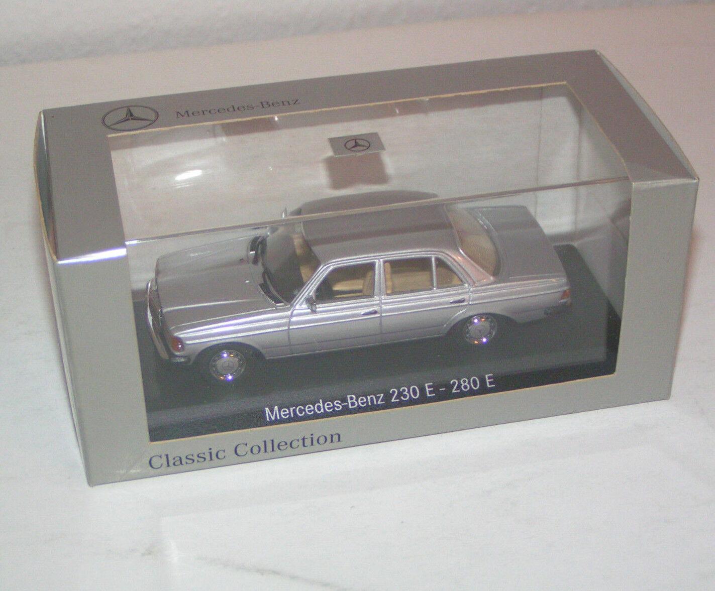 Mercedes-Benz 230 E 280 E W 123 Limousine Argent Minichamps Minichamps Minichamps 1:43 | De Haute Qualité  | Divers Les Types Et Les Styles  | Les Produits Sont Vendu Sans Limitations  1d1e66