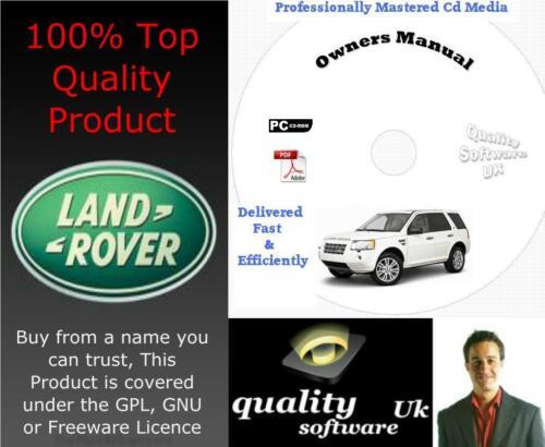 LAND ROVER FREELANDER 2 II Officina di Assistenza e Riparazione Manuale 2007-2011 su CD