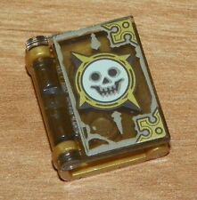 LEGO -  Minifig, Utensil Book Cover with Smiling Skull Pattern - Pearl Gold