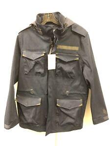2f4ac8741 Details about Nike NIKELAB M65 Obsidian Blue Black Suede Military Jacket  916429-451 Men's sz M