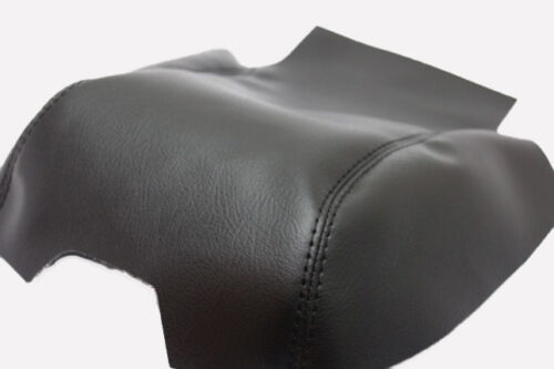 Fits 10-16 Land Rover LR4 Black Vinyl Leather Center Console Lid Armrest Cover