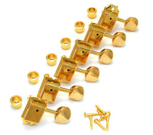 Gotoh Gold Vintage 6 Inline Tuners for Fender Strat/Tele® Guitar TK-0880-002