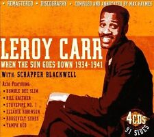 Leroy Carr-When the Sun Goes Down 1934-1941  CD NEW