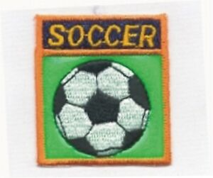 Green Shinny Soccer Ball Embroidery Patch