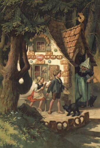 Kübel Rarität Märchen 5c von 6 Faksimiles Hexenhaus von O Hänsel /& Gretel 3