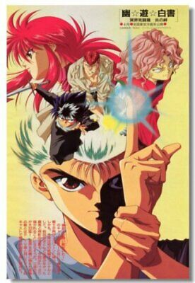 Poster YuYu Hakusho Japan Anime Room Club Art Wall Cloth Print 511