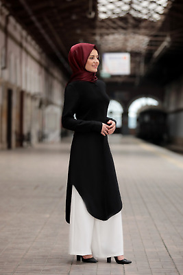 H-8172 Tesettür Tunik Tunika-Hijab Kleid-langer Oberteil