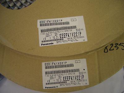 CAP ALUM 220UF 20/% 16V RADIAL ROHS ECA-1CM221I PANASONIC 1,000 PIECE LOT