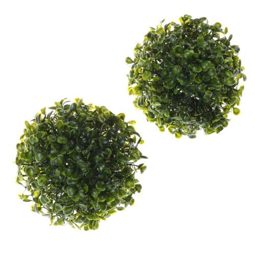 15CM Künstliche Pflanze Ball Topiary Baum Buchsbaum Hause Hochzeit im Freien   X