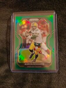 Aaron-Rodgers-GREEN-PRIZM-Green-Bay-Packers-2020-Panini-Prizm