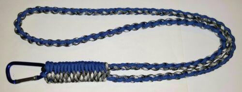 Dent de scie diamant tresse Paracord Survival Neck Lanyard-vous choisissez la couleur//S