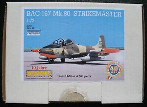 BAC-167-Mk-80-STRIKEMASTER-1-72-Limited-Edition-500-pieces-10-Jahre-DPMV
