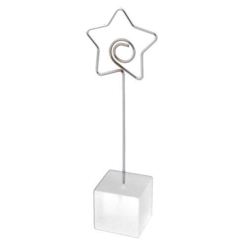 Ménage Bureau Résine Étoile Table Decor Note Carte Photo Memo Clip blanc