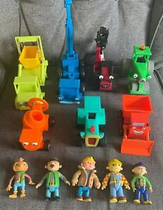 Bob-The-giocattolo-figura-Builder-Bundle-veicoli-Friction-Digger-Tractor-GWO-Muck