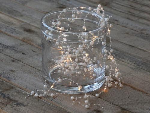 Chic Antique Lichterkette Perlen Weihnachten Shabby Vintage Landhaus Nostalgie