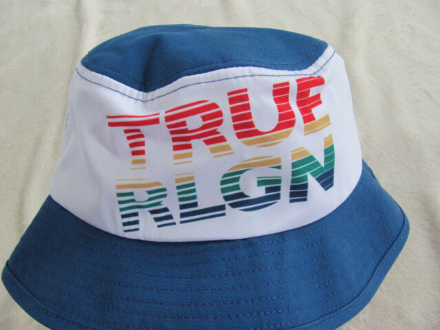 bbae5ce2 True Religion Bucket Hat -Rainbow -French Blue -Kids/Youth One Size -