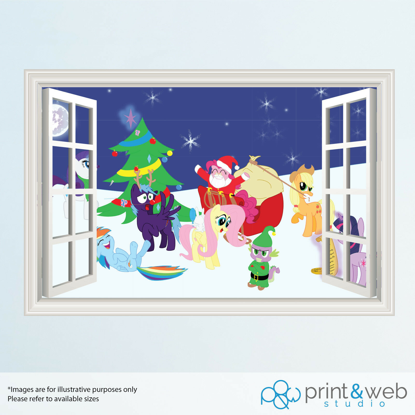My Little Pony Christmas.Details About My Little Pony Christmas Window View Decal Wall Sticker Decor Home Art Mural