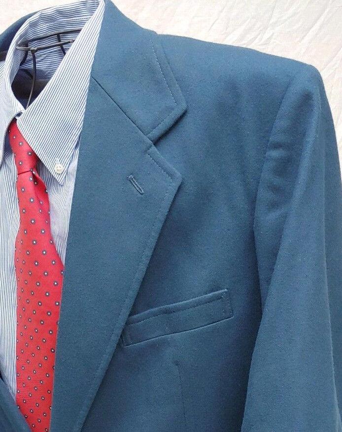 PENDLETON 46L SPORT COAT Blau VIRGIN WOOL GOLD BUTTON BLAZER PORTLAND USA