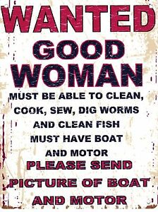 WANTED-GOOD-WOMAN-METAL-SIGN-RETRO-VINTAGE-STYLE-SMALL