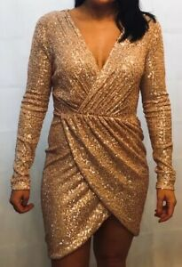 Rose Gold sequin dress - Size L