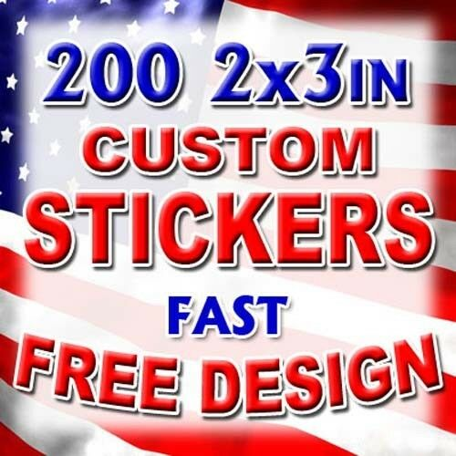X Custom Printed Full Color Vinyl Stickers Decals Company - Custom printed vinyl stickers