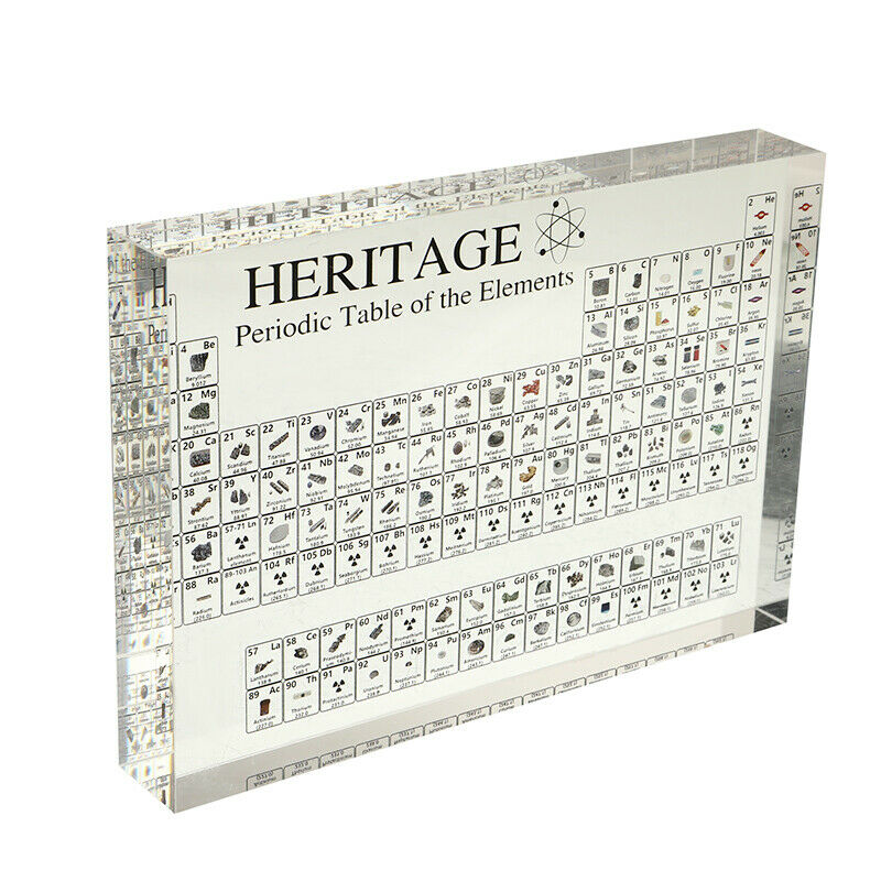 Acrylic Periodic Table Display With Elements For Home Teaching Decor Gift 1