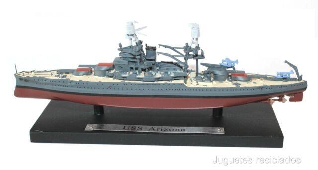 USS ARIZONA 1:1250 ATLAS BATTLESHIP WWII DIECAST BOAT