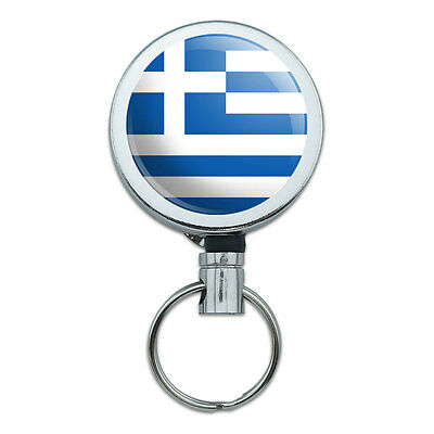 Retractable Reel Badge Key Holder with Belt Clip Country National State Flag G-K